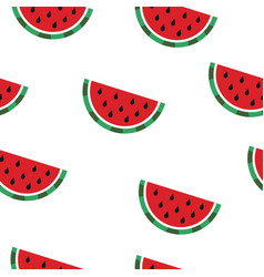 pattern with watermelon slices vector image