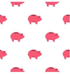 piggy pattern flat vector image vector image