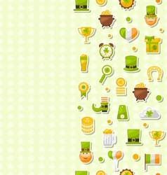 Seamless Vertical Template with Cartoon Colorful vector image