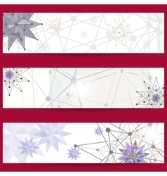 Set of banners on the theme of science and vector image vector image