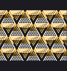 triangle shape geometric art deco seamless pattern vector image vector image