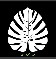 tropical leaf it is white icon vector image