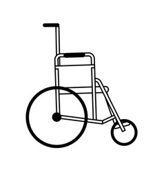 Wheelchair healthcare related icon image vector
