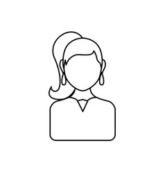 young woman profile vector image