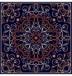 Square ornate pattern vector
