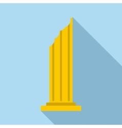 Column icon flat style vector