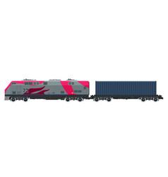 Cargo train isolated vector