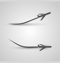 plane takeoff and landing vector image