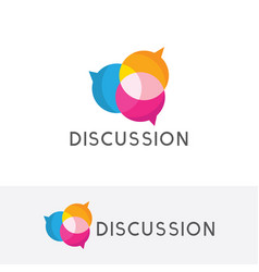 Discussion logo vector