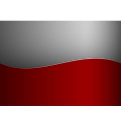 Background red stripe wave one grey vector