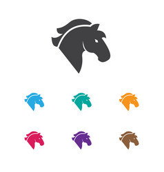Of casino symbol on horse icon vector
