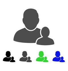 Child parent flat icon vector