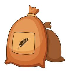 wheat bag icon cartoon style vector image