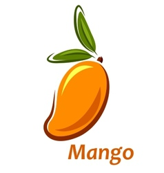 Cartoon mango fruit sketch vector