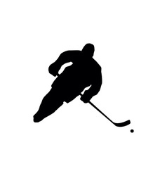 Ice hockey silhouettes vector