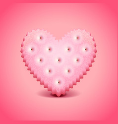 Heart-shaped cracker background vector