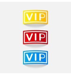 Realistic design element vip vector