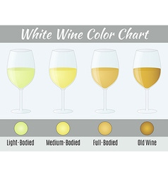White wine color chart vector