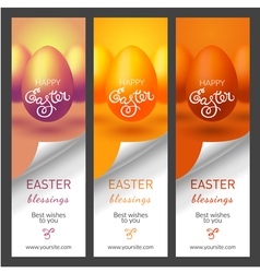 Set with easter banners for web site vector