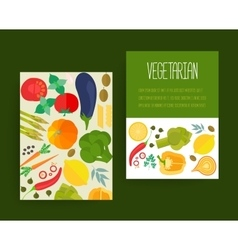 Concept banners with flat icons for vegetarian vector