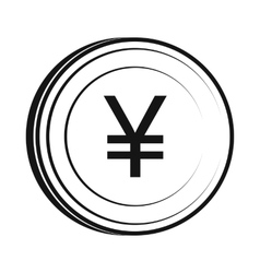Yen icon simple style vector