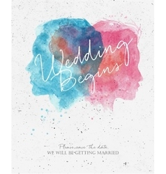 Wedding invitation begins vector