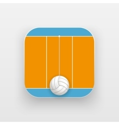 Square icon of volleyball sport vector