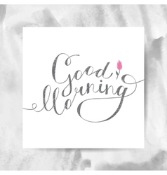 Good morning text vector