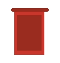 Empty stand icon vector