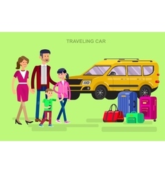 Family summer holiday travel vector