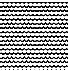 Abstract sea wave frill black and white vector