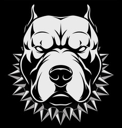angry dog head vector image vector image