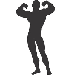 Body Builder Muscle Clipart Design vector image