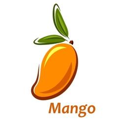 Cartoon mango fruit sketch vector