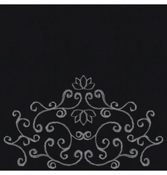 Chalk decorative ornament vector