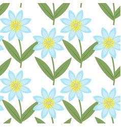 cute blue flowers seamless pattern spring floral vector image vector image