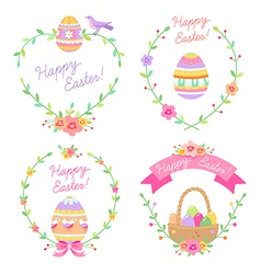 Easter frames cute vector image