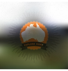 Explore more poster Australia map with vintage vector image