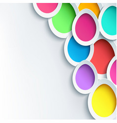 Holiday background with 3d easter egg vector