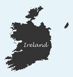 Map of Ireland vector image vector image