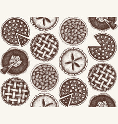 Pattern with vinatge baking vector