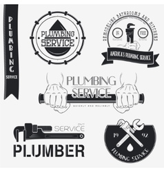 Plumbing service Home repairs Repair and vector image