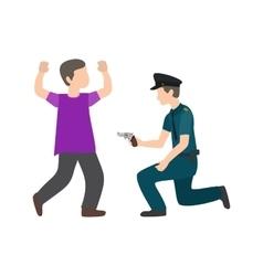 Police arresting man vector