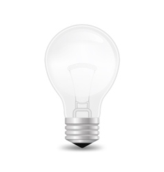 Realistic glass bulb eps10 vector image