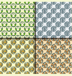 Recycling garbage seamless pattern trash vector