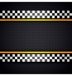Structured metallic perforated for race sheet vector