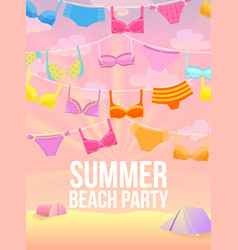summer beach party vector image