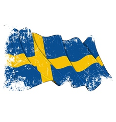 Sweden Flag Grunge vector image vector image