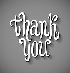 Thank you 3d hand written volumed signature vector