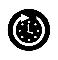 time clock wall with arrow vector image vector image